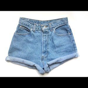 Pants - Vintage High Waisted Shorts, denim shorts